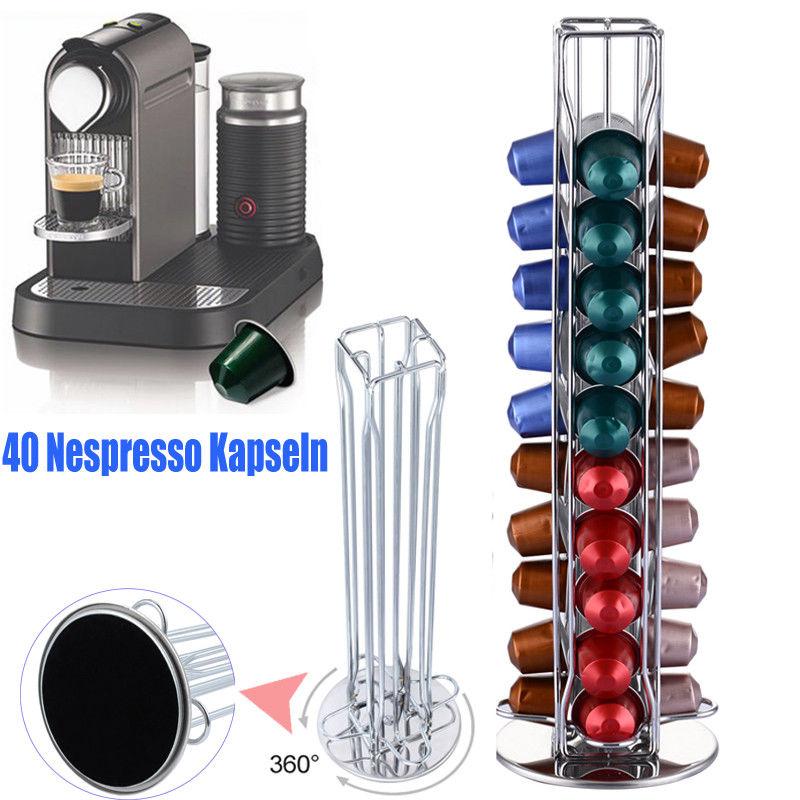 New Revolving Rotating Capsule Coffee Pod Holder Rack for Nespresso Tower Stand