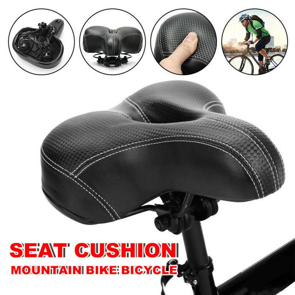 Comfort Bike Saddle Bicycle Cycling Soft Seat Men Women Soft Wide Cushion Pads