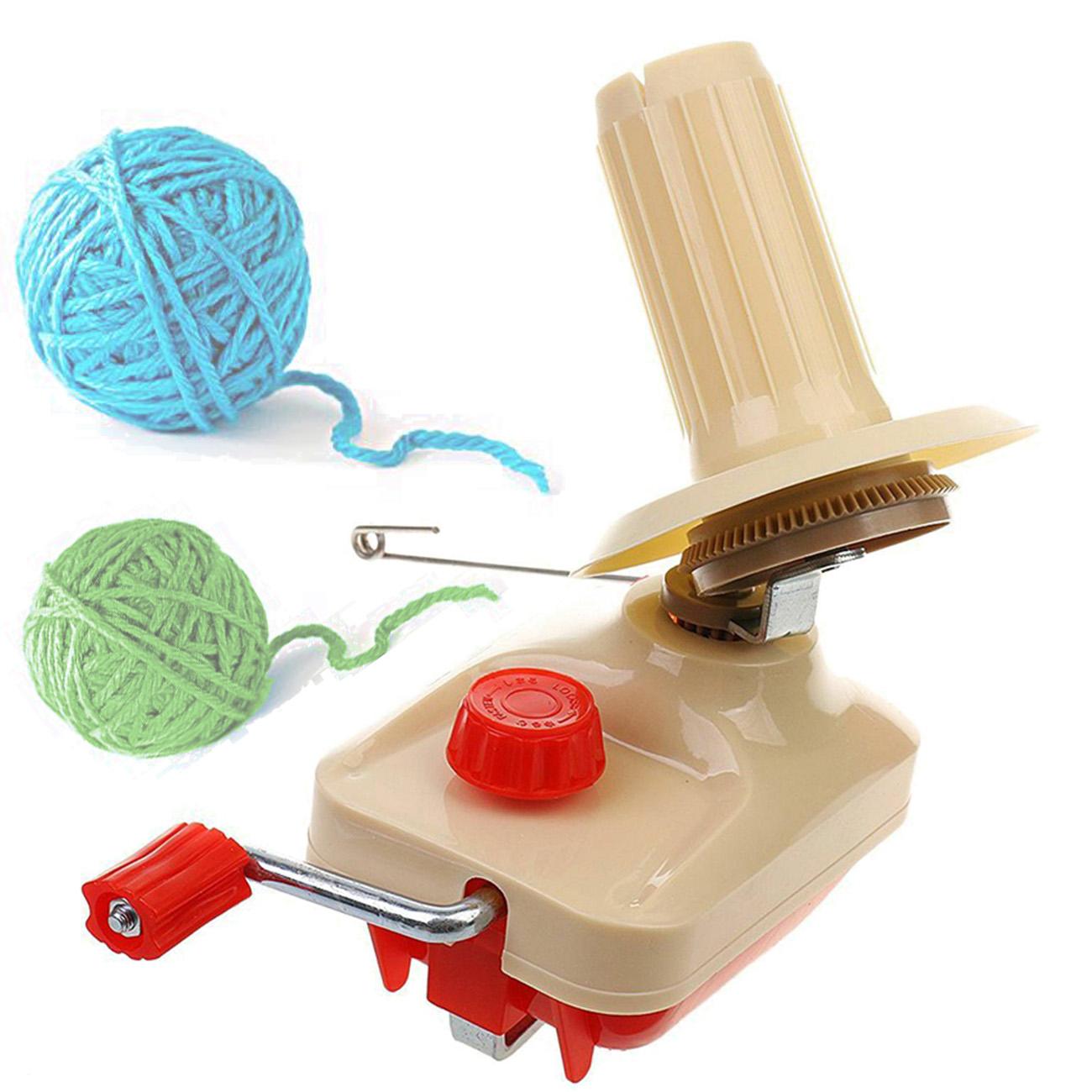 Hand Operate Knitting Roll String Yarn Fiber Wool Thread Ball Winder Holder 10oz