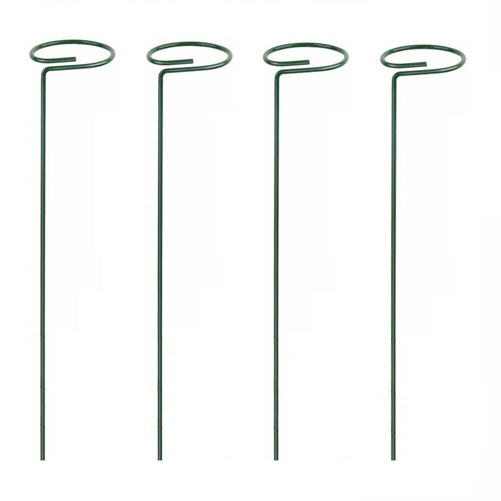 4pcs Plant Support Stakes Flower Pot Metal Ring Bracket Garden Frame Practical Ebay