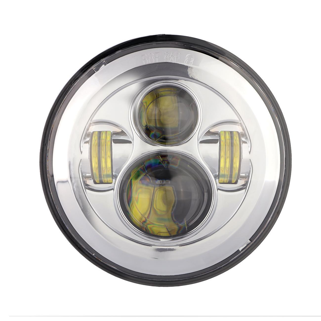 7 U0026quot  Led Headlight Bulb 150w Chrome Lamp For Honda Shadow
