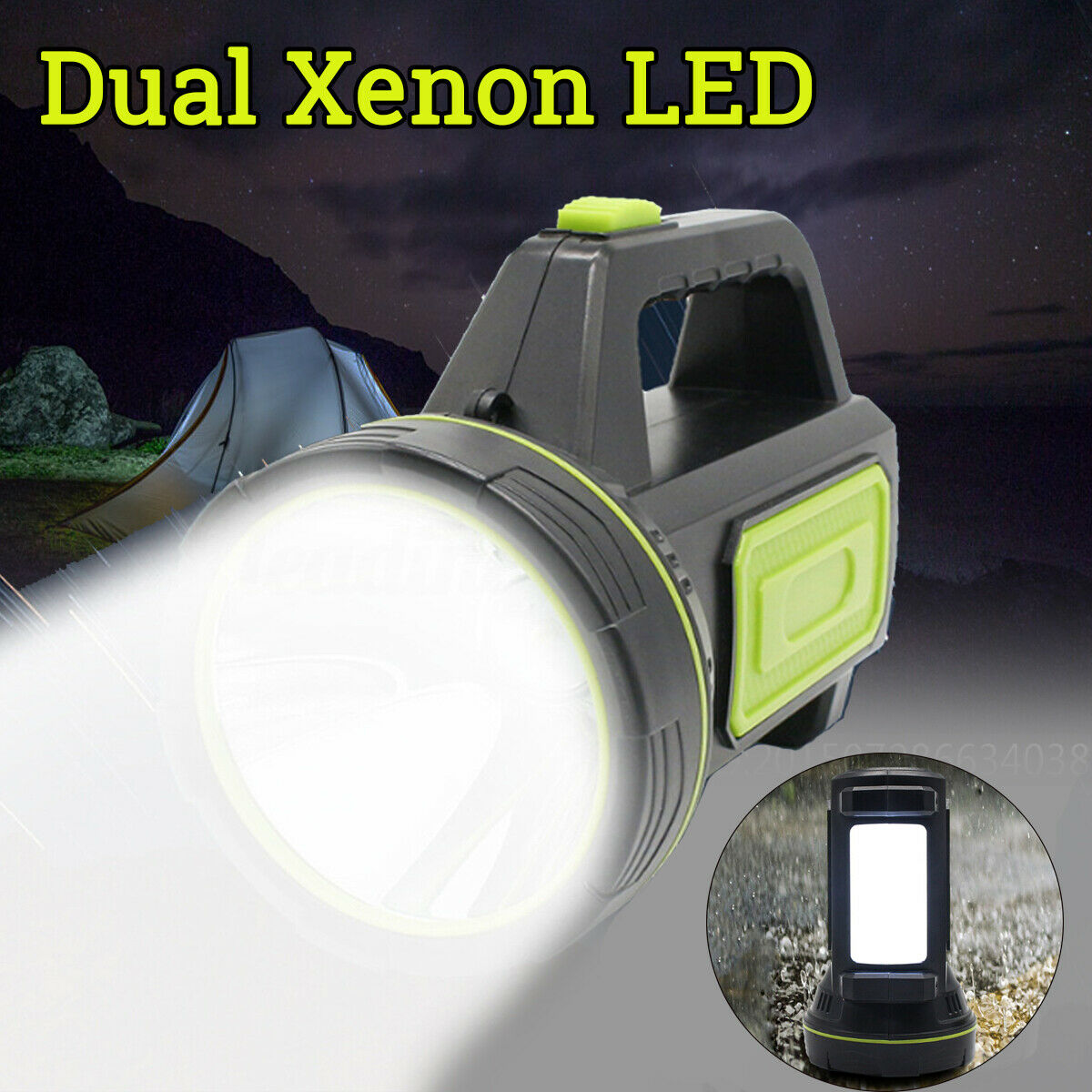 10W Xenon LED Rechargeable Work Light Torch Candle Spotlight Hand Lamp Black