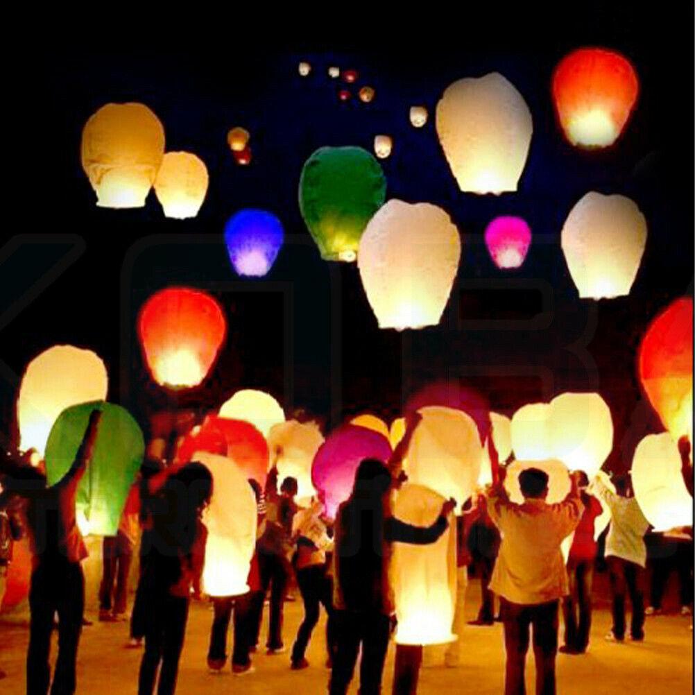 Chinese Sky Lanterns Floating Flying Paper Kongming Lantern
