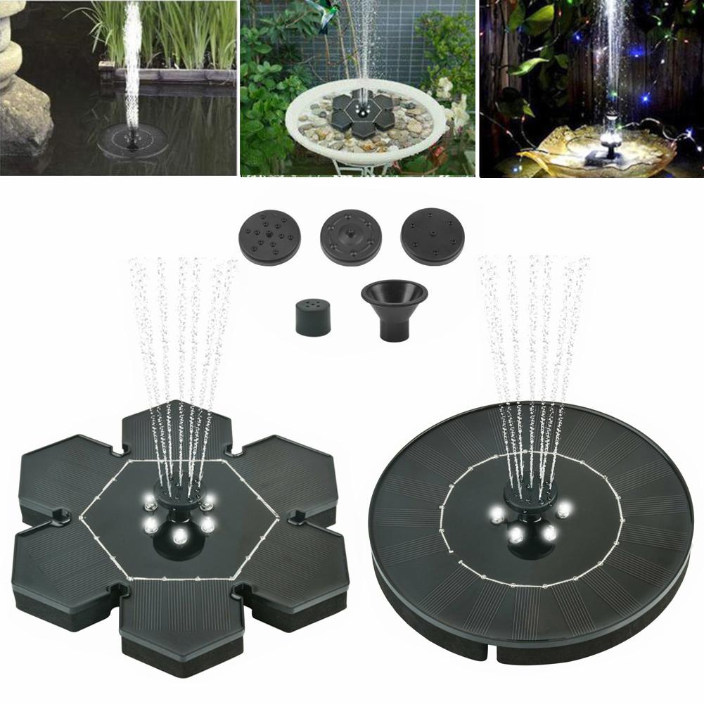 Solar fountain Pump Floating Fountain Pump for Birdbaths or Ponds LED Circle Garden Solar Water Pump Solar Powered Water Pump