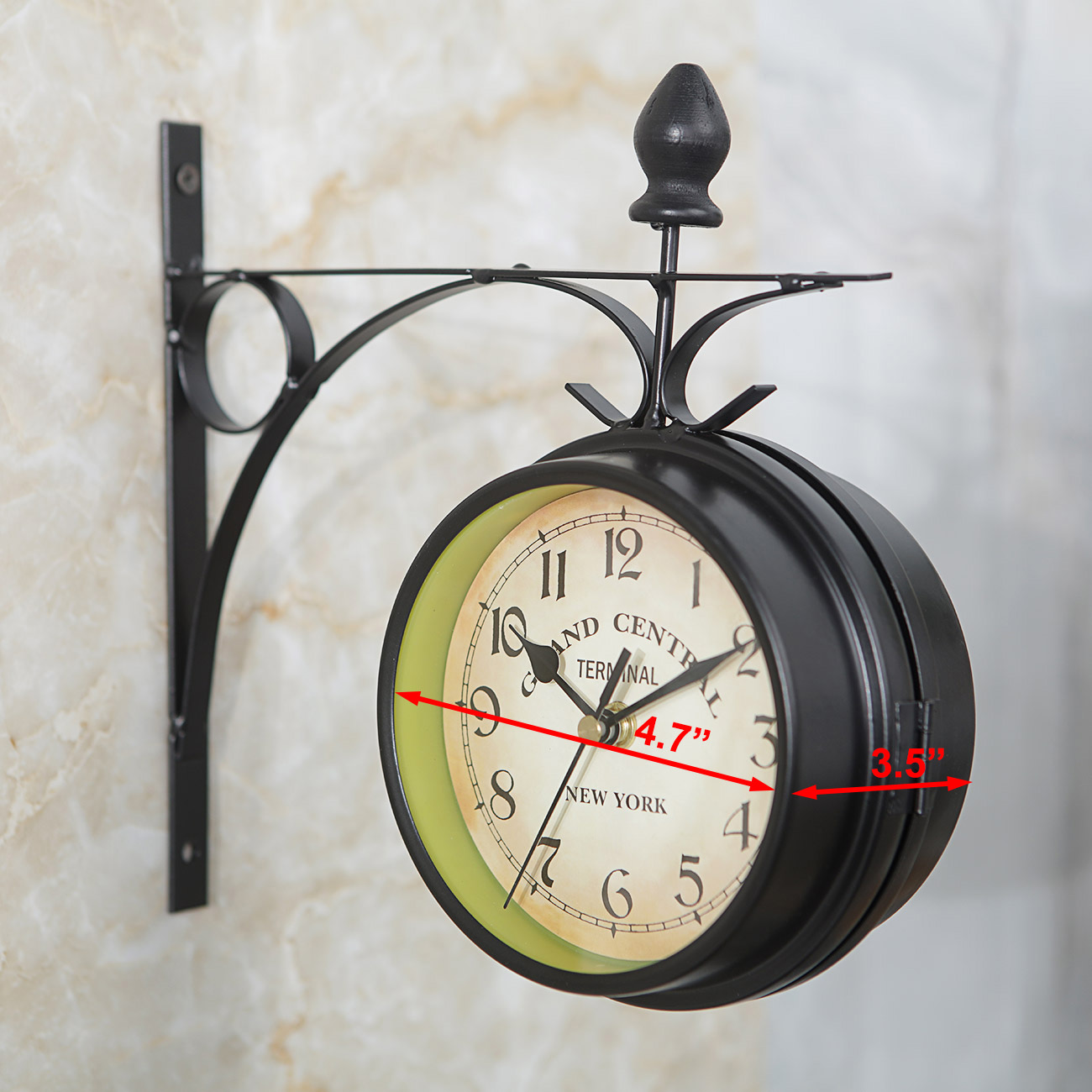 Details About Retro European Antique Style Double Side Wall Clock Creative Clic Clocks Deco
