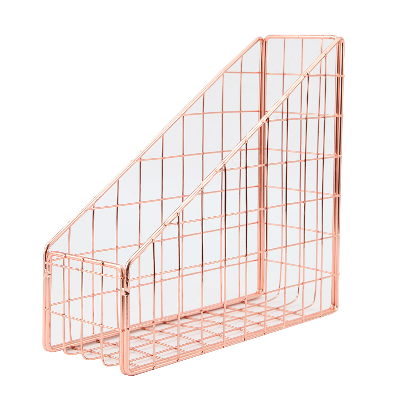 Details about Copper/Rose Gold Wire Mesh Magazine Tidy Holder Stationery  Files Organiser A38