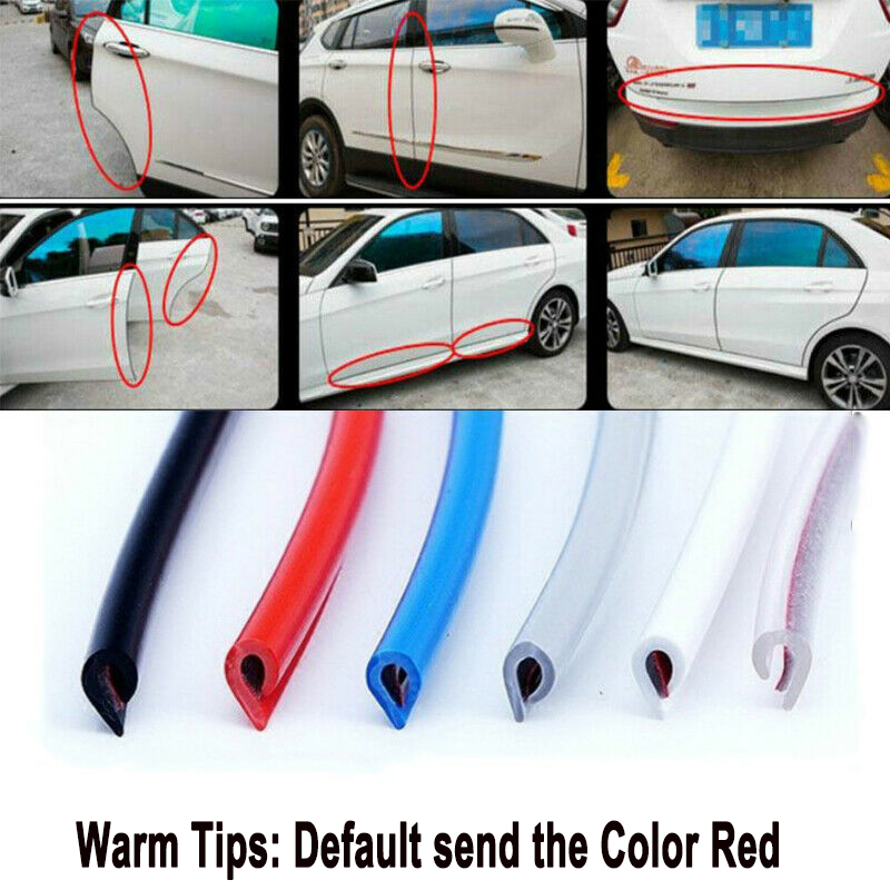 Black U Shape Car Edge Protector Car Door Trim Rubber Seal Protection Universal Fit XIANKO Car Door Edge Guards 16Ft 5M