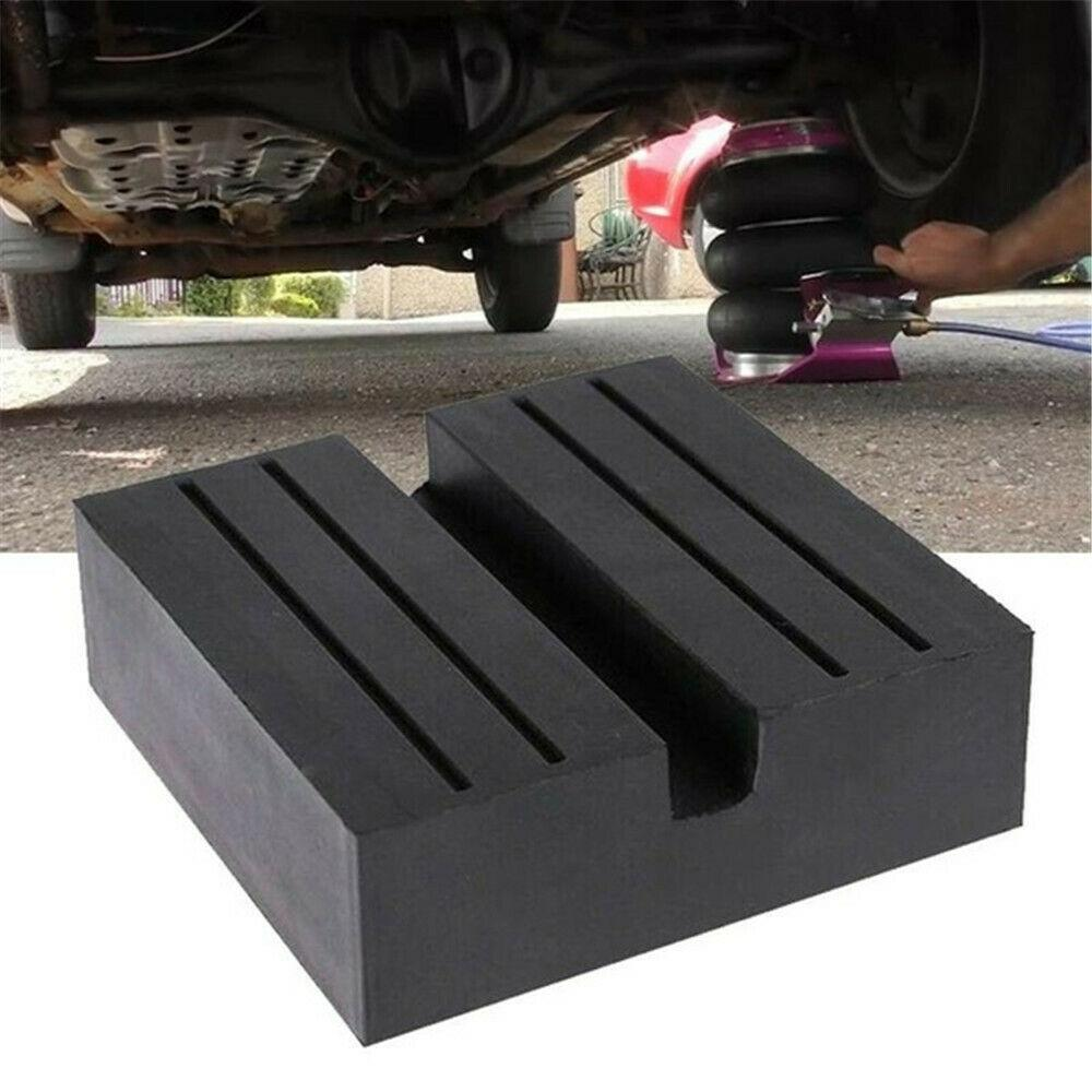 Universal Car Slotted Frame Rail Floor Jack Adapter Guard Lift Rubber Pads Stand