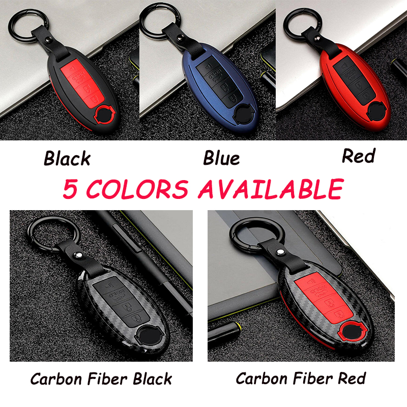 ABS Carbon Key Fob Cover Case Fit For Nissan Infiniti Q50 FX35 Q70 QX70 G37 FX