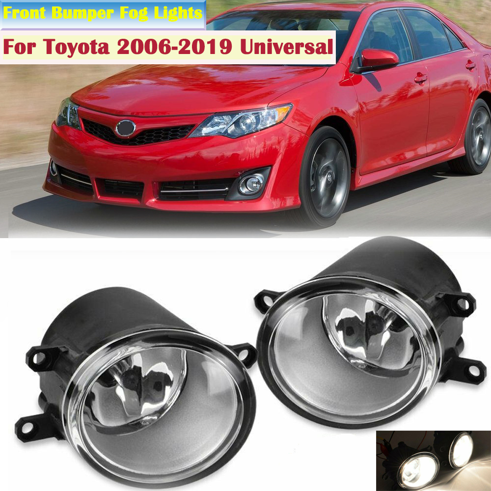 LED 2007-2014 Toyota Camry Clear Lens Replacement Fog Light Housing LH//RH Pair