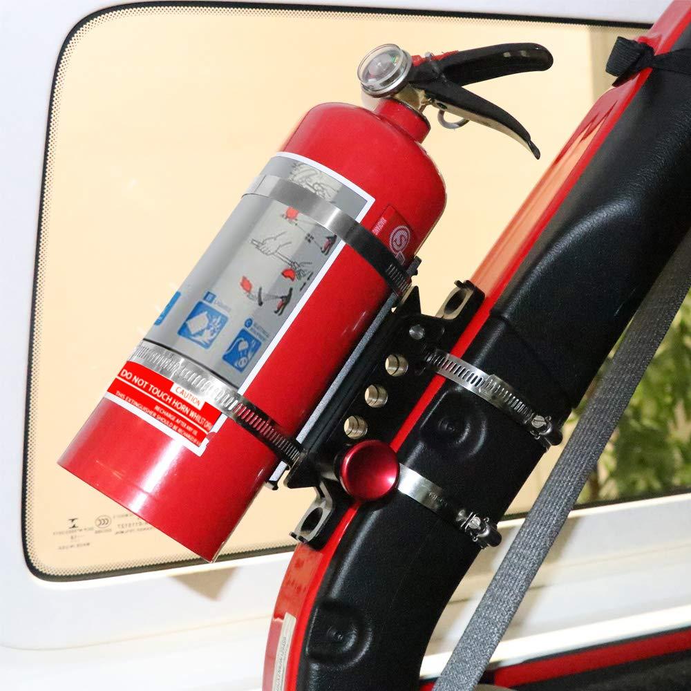 Xislet Offroad Roll Bar Fire Extinguisher Holder for Polaris UTV RZR Ranger Can Am Maverick X3 Commander Extinguisher Mount Quick Release 2 Pack 2020 Upgraded