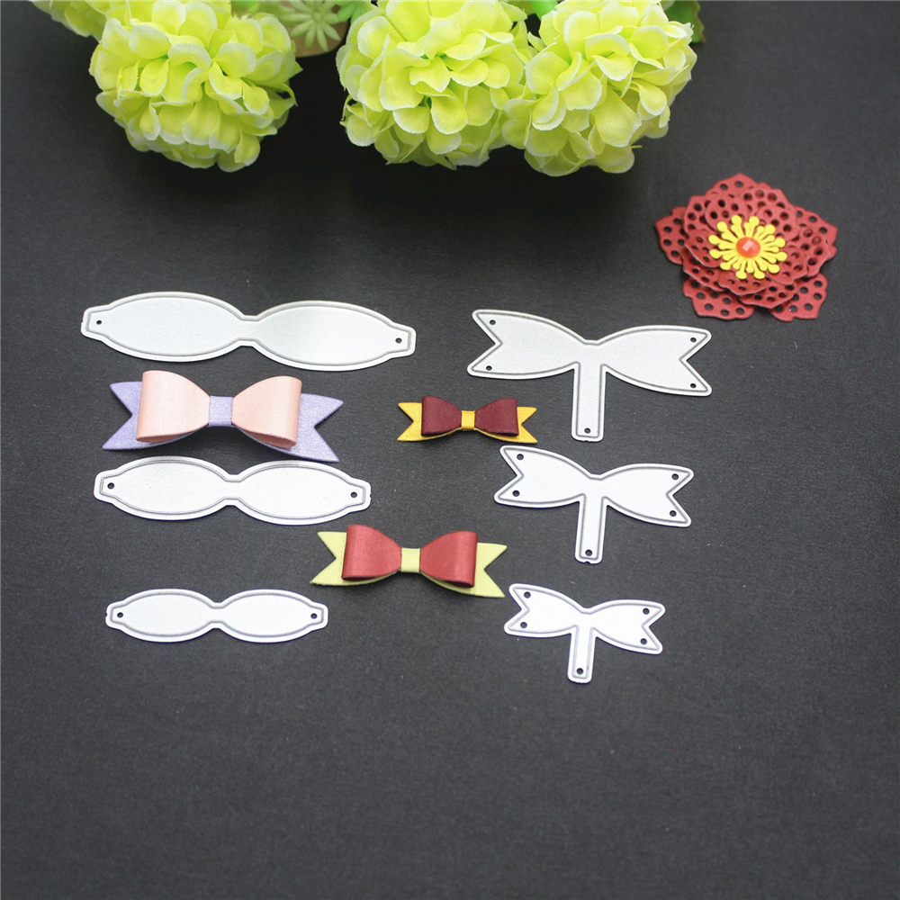 6pcs Bowknot Bow Metal Cutting Dies Stencils Scrapbooking Embossing Craft DIY