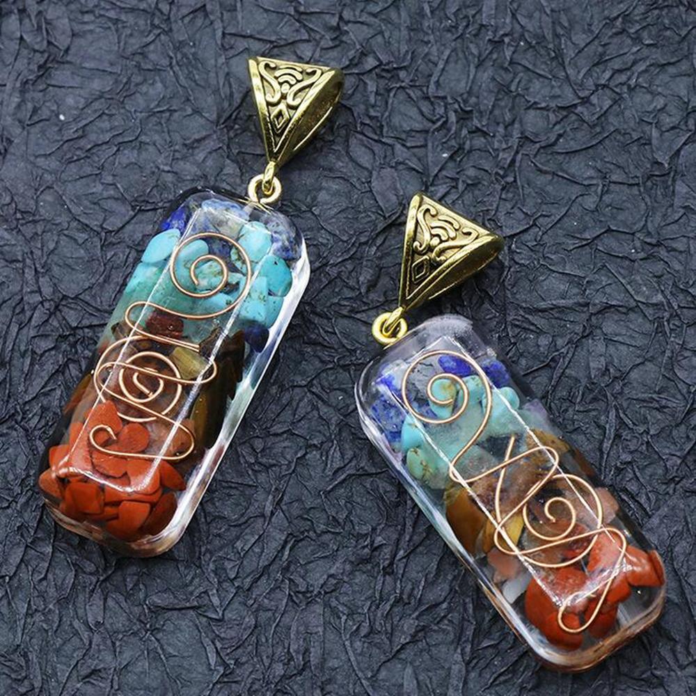 7 Chakra Anhänger Heilschnur Halskette Kette